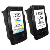 2x Ink PG510 CL511 for Canon MP240 MP250 MP260 MP252 MX340 492 Printer Cartridge