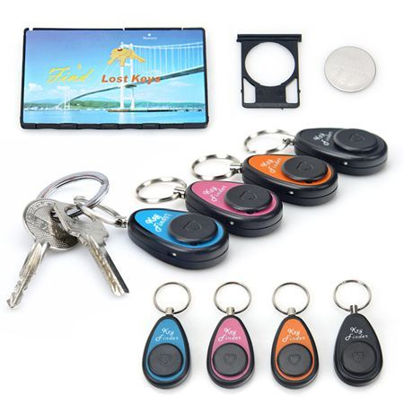 Free Shipping! 4 Wireless Key Finder Alarm With Receiver 40m Range