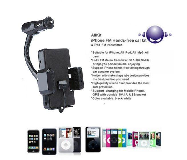 iPhone FM Handsfree Car Kit & iPod FM Transmitter (30pin)