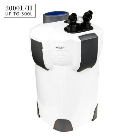2000L/H UV Light Aquarium Canister Filter + Media Kit