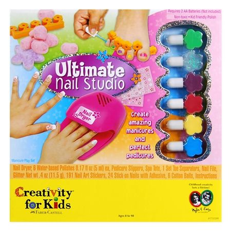 Faber Castell Ultimate Nail Studio W Polish Dryer Creativity For Kids