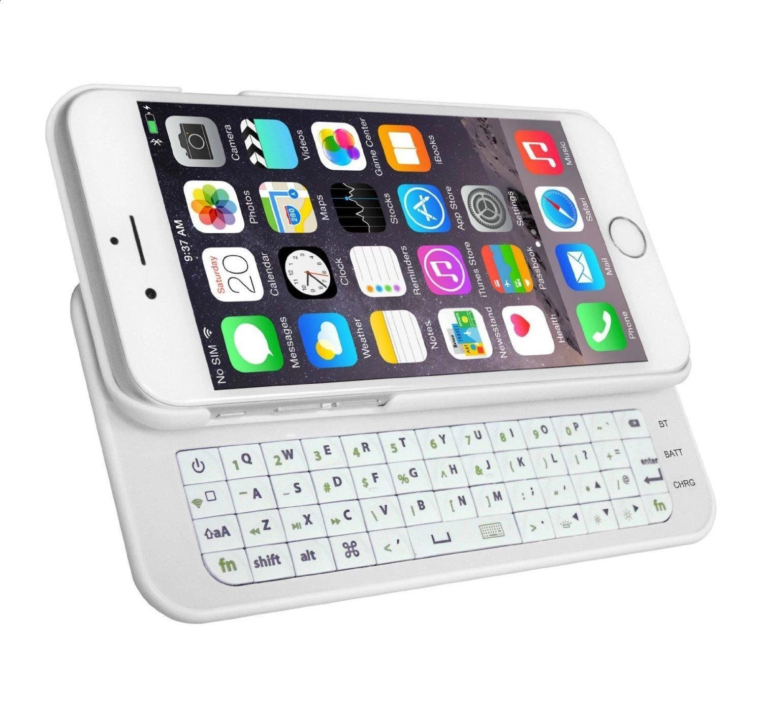 Slide Out Wireless Bluetooth Keyboard Protective Hard Back