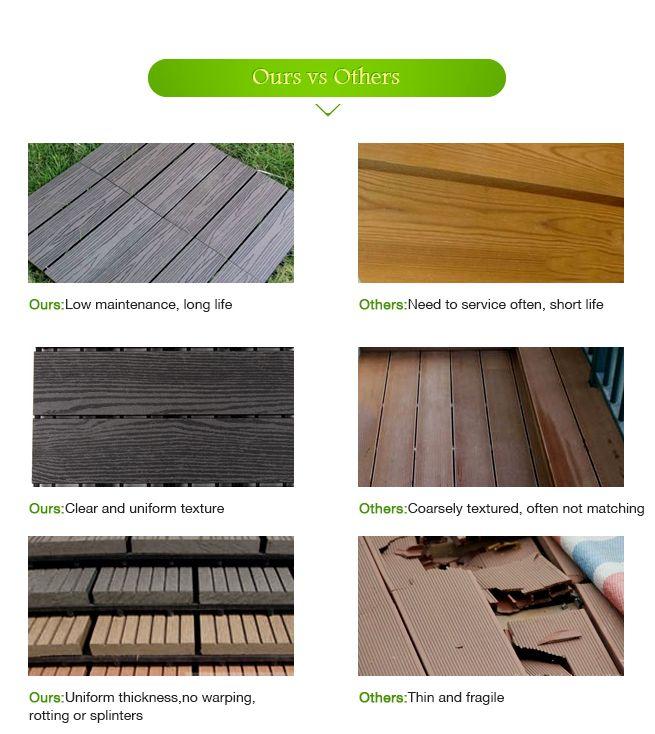 New 6 piece weatherproof outdoor garden diy composite for Garden decking kits on ebay