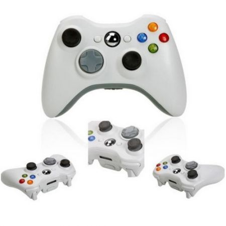 Wireless Shock Game Controller For Microsoft xBox360 White
