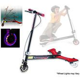 Powerwing Drifting Caster 3 Wheels Swing Scooter - 2nd Gen with Lights & Foldable Handle