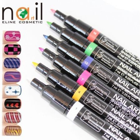 16 Colors Diy Nail Art Pen Polish Painting Crazy Sales