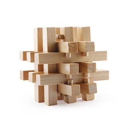 Intelligence Wooden Wood Pull-Apart IQ Puzzle Brain Teaser ...