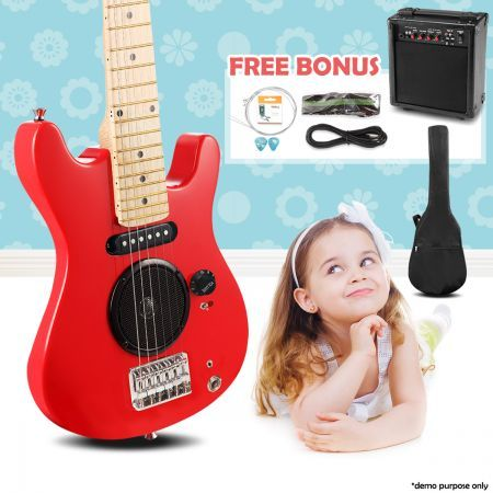 30 Kids Electric Guitar With Built In Speaker Pack Amp Amp