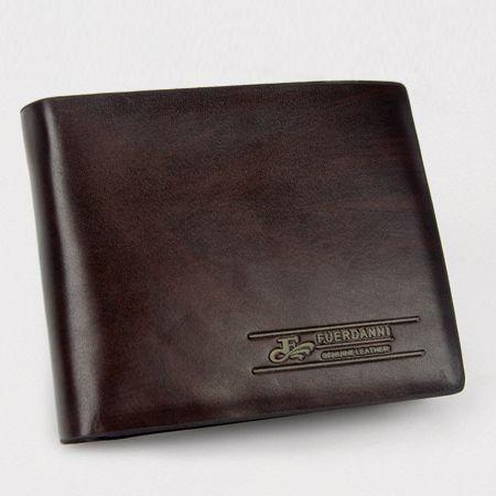 Genuine Leather Bi-Fold Wallet