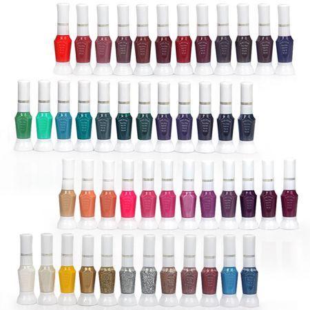 48 Colour Polish Glitter Art Design Kit