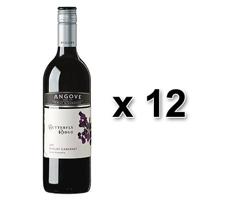 12 x Red Wine - 2011 Angoves Butterfly Ridge Merlot Cabernet