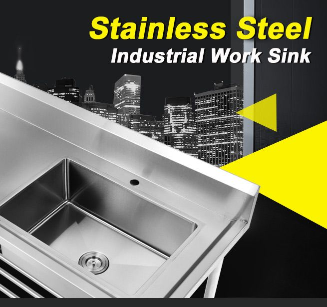 Right-Side Bowl Large Stainless Steel Bench Sink