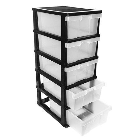 5 Drawer Plastic Storage Organiser Crazy Sales