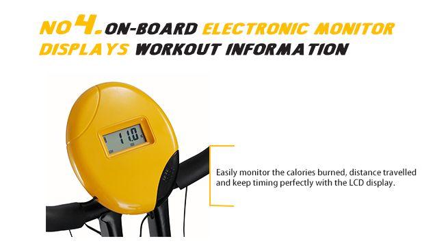 Folding Exercise Bike with Hand Monitor