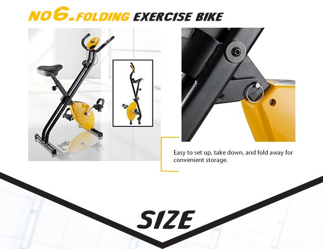 Folding Exercise Bike with Hand Monitor