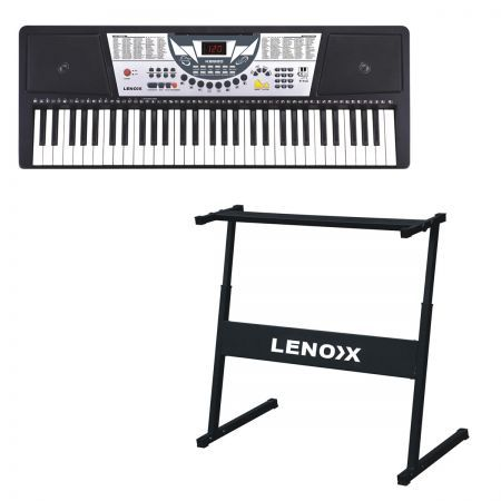 full size 61 key electric keyboard piano with stand crazy sales. Black Bedroom Furniture Sets. Home Design Ideas