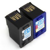 2x Compatible HP 21 22 Ink Cartridges for HP 1410 5610 F2179 Printer