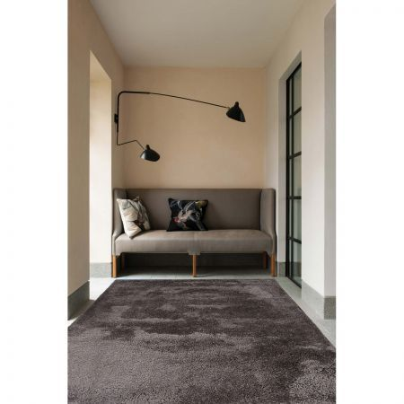 Texture Shag Rug Dark Brown-280cmx190cm