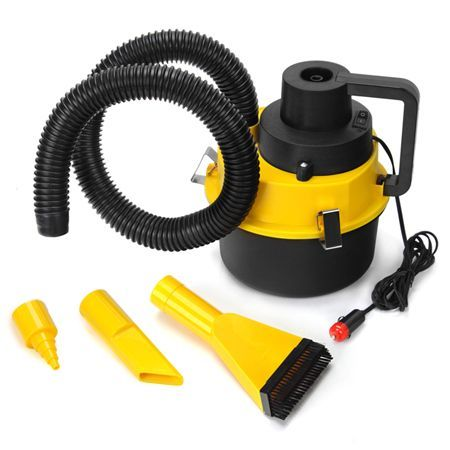 portable car vehicle auto dust handheld vacuum cleaner wet dry 12v yellow crazy sales. Black Bedroom Furniture Sets. Home Design Ideas