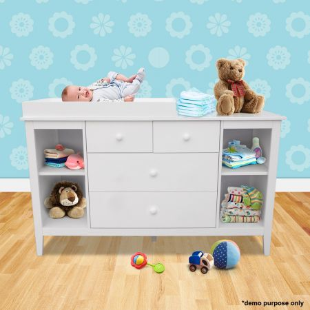 white baby changing table with four drawers crazy sales. Black Bedroom Furniture Sets. Home Design Ideas