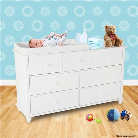 White Baby Changing Table With Four Drawers Small Crazy