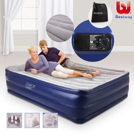 Bestway Inflatable Mattress with Electric Air Pump-Queen