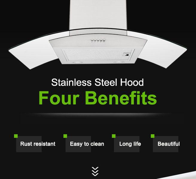 Stainless Steel Ventilation Range Hood Fan Crazy Sales