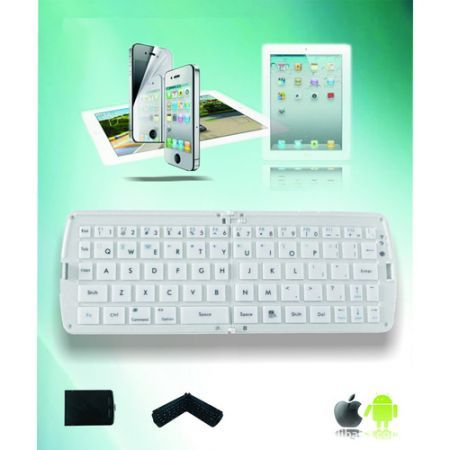 Bluetooth Folding Keyboard for Tablet phone - Black