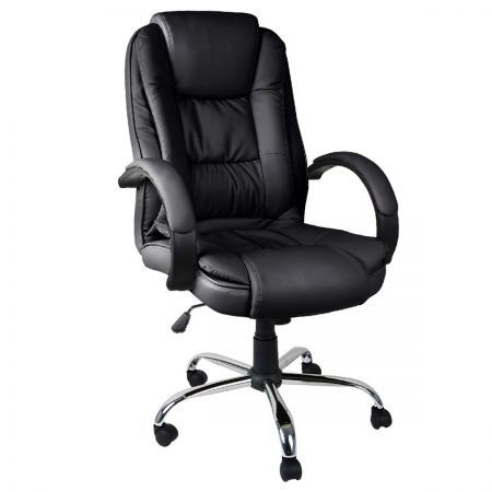 Executive PU Leather Office Computer Chair Black Crazy Sales