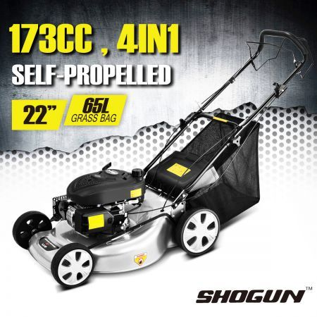 Shogun 4 in 1 22 4-Stroke  173cc 6.0HP  Self Propelled Mulch Catch Lawnmower