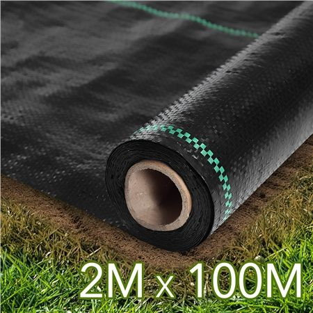 100gsm Woven Pp Weed Control Mat 2mx100m Crazy Sales