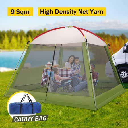 3x3M Green Outdoor Pop-Up Mesh Walled Tent & 3x3M Blue Outdoor Pop-Up Mesh Walled Tent | Crazy Sales