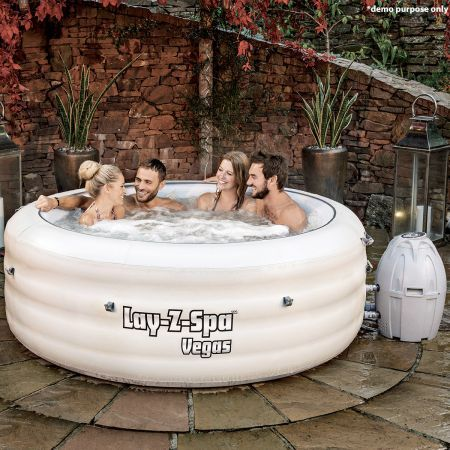 White Lay Z Spa 4 6 Person Inflatable Hot Tub Crazy Sales