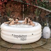 White Lay-Z-Spa 4-6 Person Inflatable Hot Tub