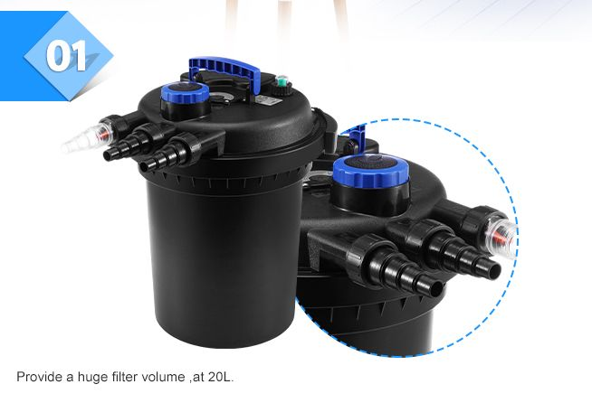External aquarium fish tank water filter crazy sales for Self cleaning pond filter