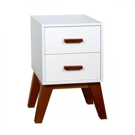 scandinavian bedside table matte white crazy sales. Black Bedroom Furniture Sets. Home Design Ideas