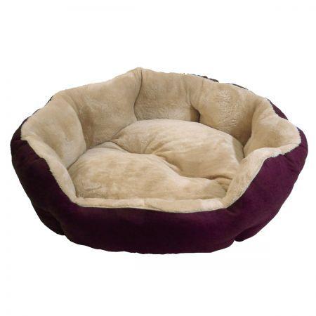 Snuggle Pet Bed Medium 70 x 70 x 25cm - Burgundy