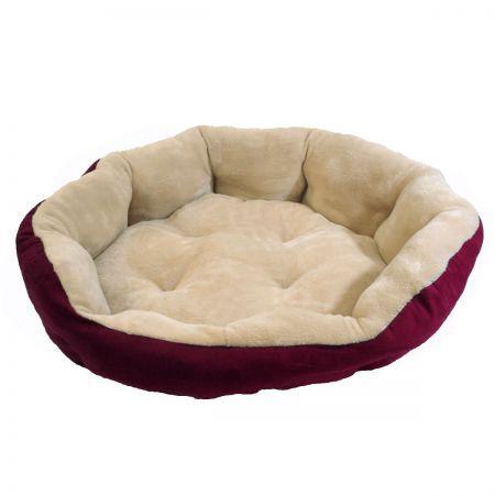 Snuggle Pet Bed Large 90 x 90 x 30cm - Burgundy