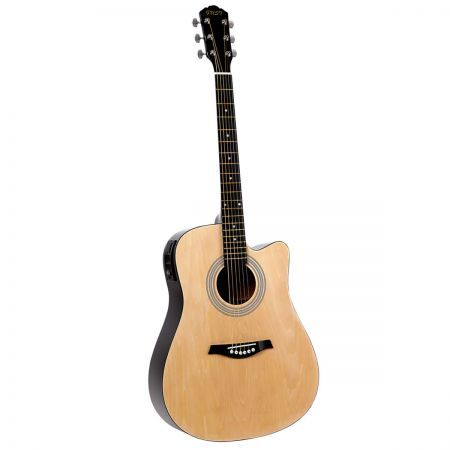 "41"" 5- Band EQ Electric Acoustic Guitar Full Size - Natural"