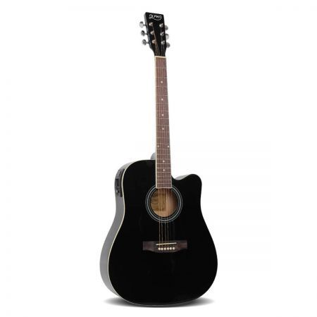 "41"" 5- Band EQ Electric Acoustic Guitar Full Size - Black"