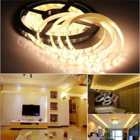 5M 5630 300 LED Strip Light Warm white+Ad